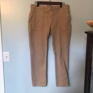 Khaki ankle pants
